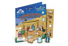 A Child is Born Christmas Magnetic Playset